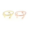 Anchor & Twisted Rope Ring in Rose Gold & Gold
