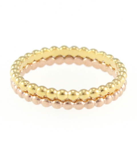 Bubble Stack Rings 14KP