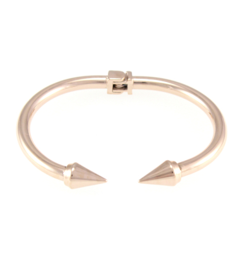 Metal Spike Bangle 14KP in Rose Gold
