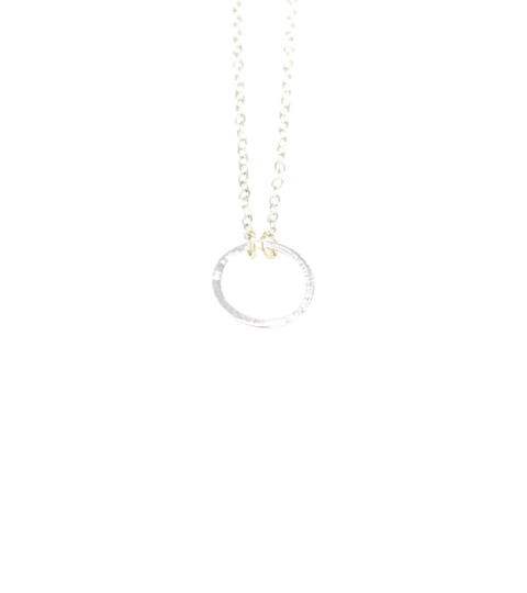 Eternal Circle Necklace in Silver & Gold