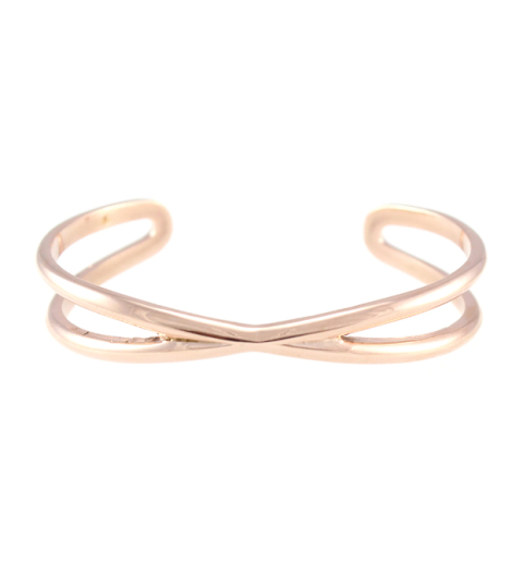 Criss Cross Bangle 14KP in Rose Gold