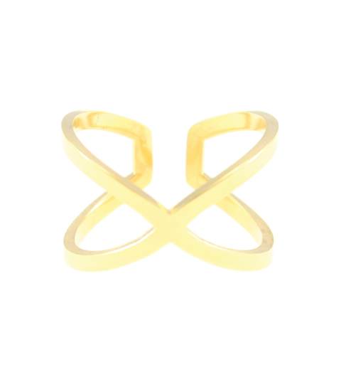 Criss Cross Ring 14KP in Gold