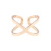 Criss Cross Ring 14KP in Rose Gold