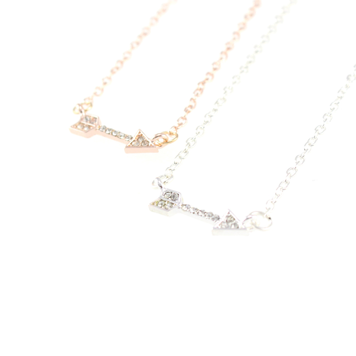 arrow products loulou necklace grande gold pink