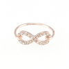 Crystal Infinity Ring in Rose Gold