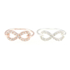 Crystal Infinity Ring in Rose Gold & Silver