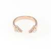 Double Crystal Spike Ring in Rose Gold