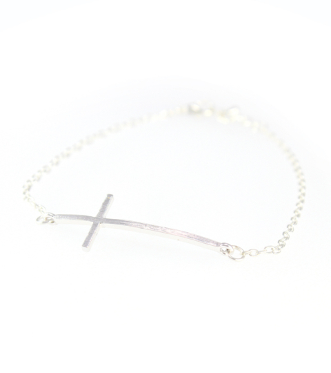 Cross Charm Chain Bracelet