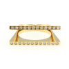 Double Layer Strand Ring 14KP in Gold