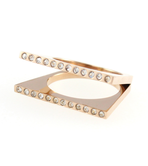 Double Layer Strand Ring 14KP in Rose Gold
