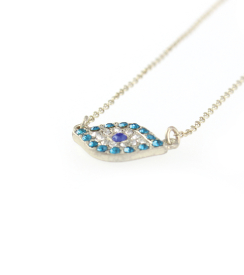 Turquoise Jewelled Evil Eye Necklace
