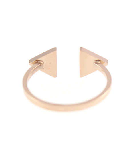 Double Arrow Ring 14K in Rose Gold
