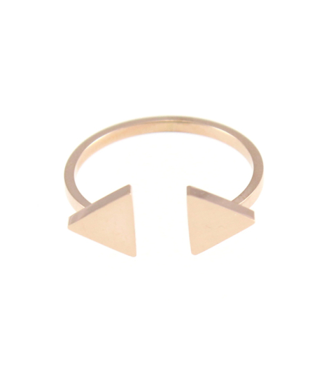 Double Arrow Ring 14K