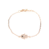 Crystal Hamsa Hand Bracelet in Rose Gold