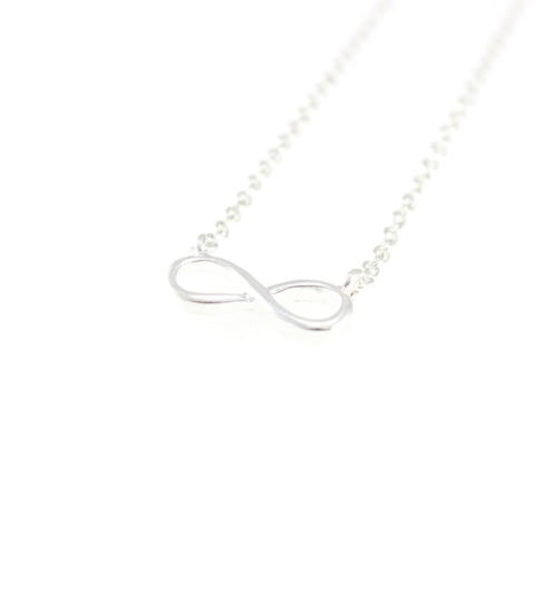Infinity Necklace in Silver & Gold