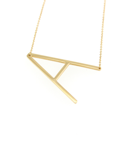 Initial Necklace in gold 14KP