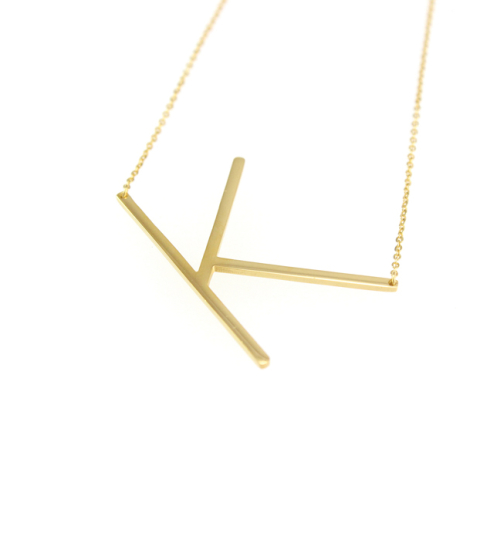 A Initial Necklace in gold 14KP