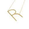 R Initial Necklace in gold 14KP