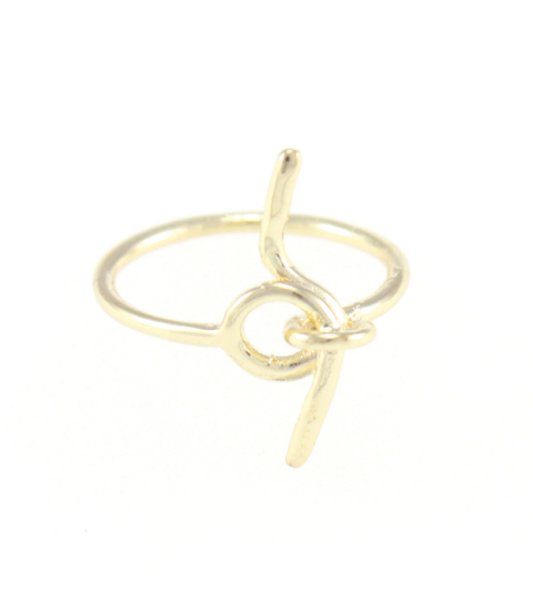 Twist Knot Ring in Gold
