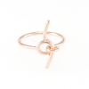 Twist Knot Ring in Rose Gold