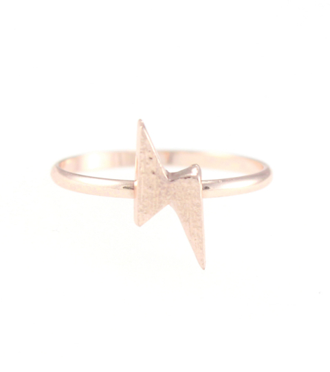 Lightening Bolt Ring in Gold
