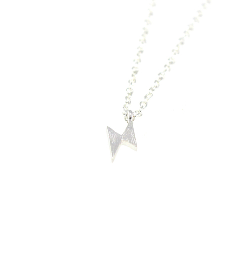 Lightening Bolt Necklace in Gold & Silver