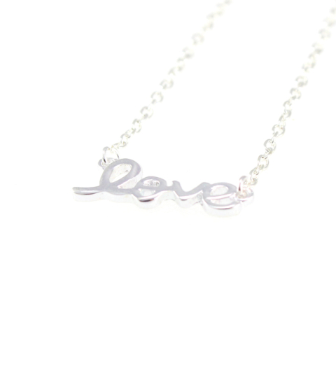 LOVE Necklace in Gold Silver & Rose Gold