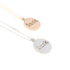 Luck Pendant Necklace 14KP in Rose Gold & Silver