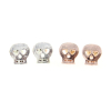 Mini Skull Stud Earrings in Silver or Rose Gold