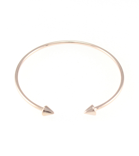 Mini Spike Bangle in Rose Gold
