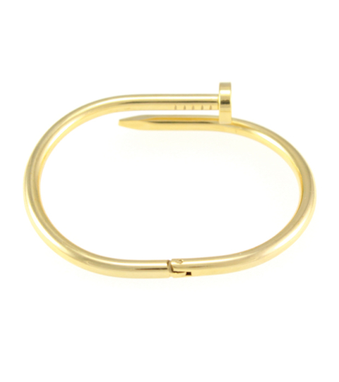 Nail Bangle 14KP in Gold