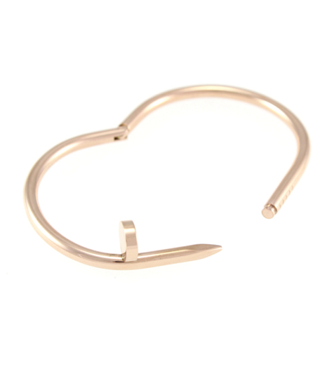 Nail Bangle 14KP in Rose Gold