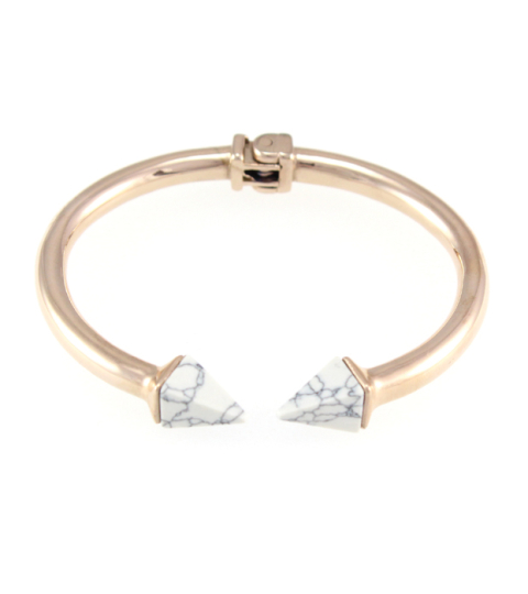 Marble Pyramid Spike Bangle 14KP in Rose Gold