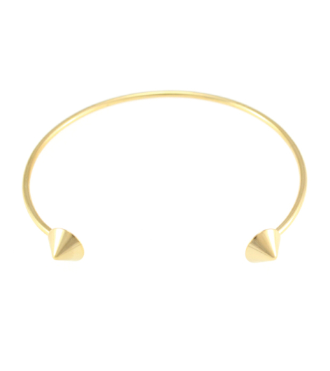 Rounded Spike Bangle 14KP in Gold
