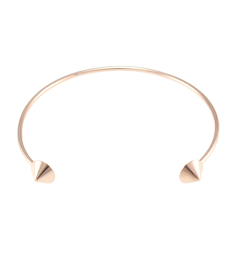 Rounded Spike Bangle 14KP in Rose Gold