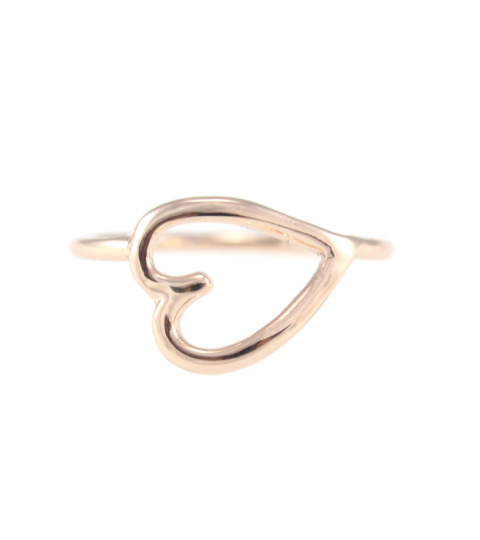 Scribble Heart Ring in Rose Gold