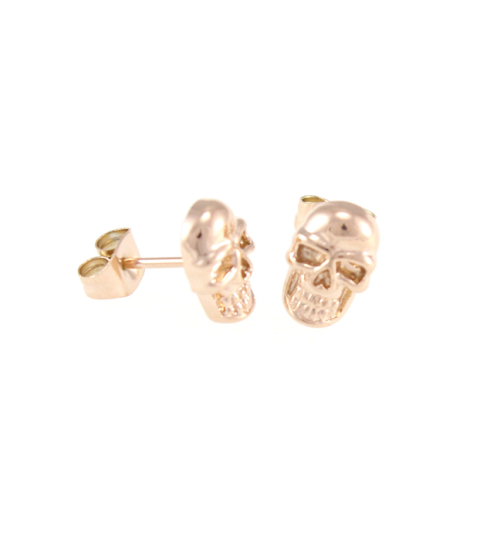 Skull Stud Earrings 14KP