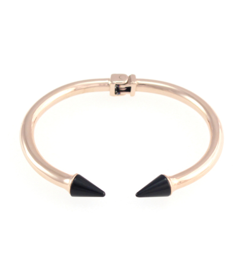 Marble Spike Bangle 14KP in Rose Gold & Black