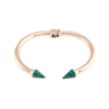 Marble Spike Bangle 14KP in Rose Gold & Green