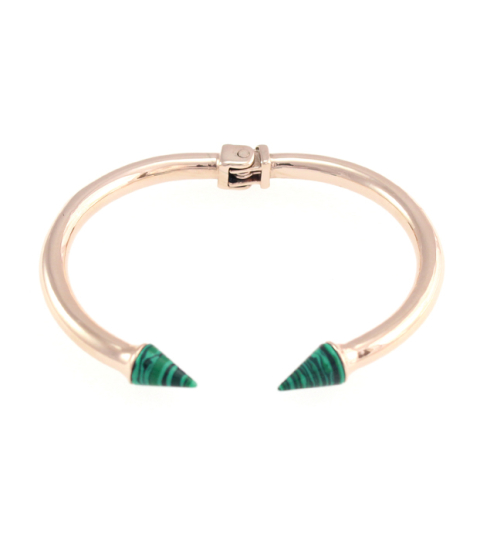 Marble Spike Bangle 14KP in Green