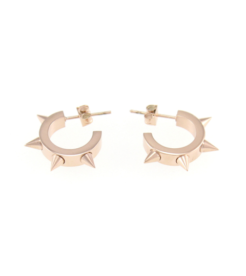 Spike Hoop Earrings 14KP