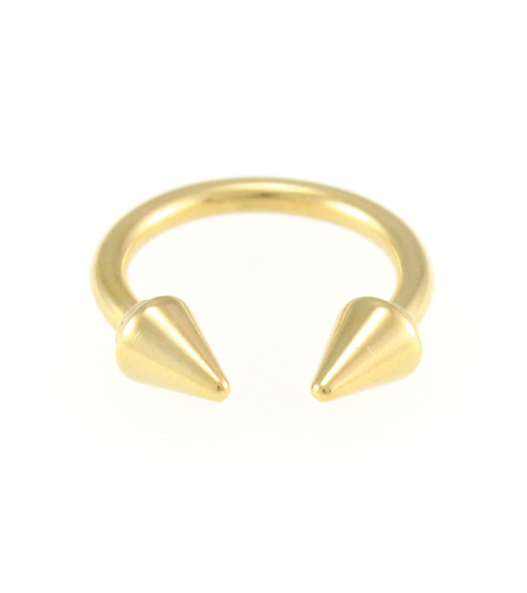 Chunky Double Spike Ring 14KP in Gold