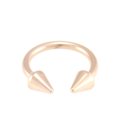 Chunky Double Spike Ring 14KP in Rose Gold
