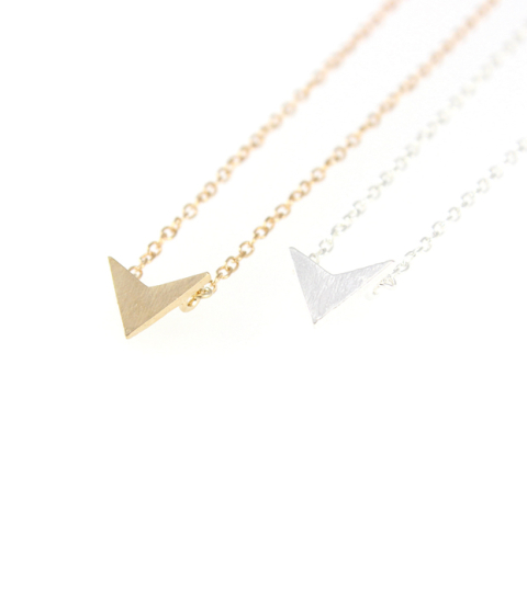 Chevron Necklace in Silver & Gold