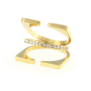 Triple Layer Ring 14KP in Gold