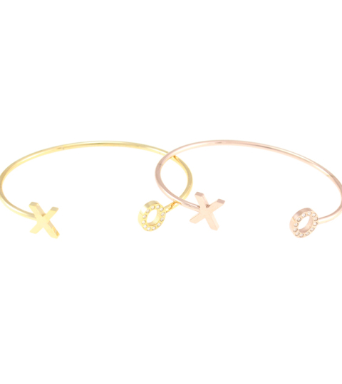 XO Bangle 14KP in Rose Gold