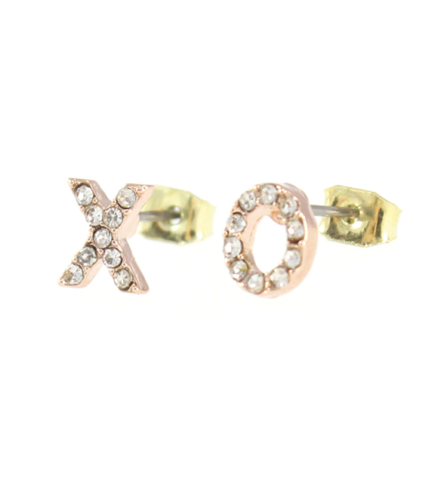 Crystal X-O Stud earrings